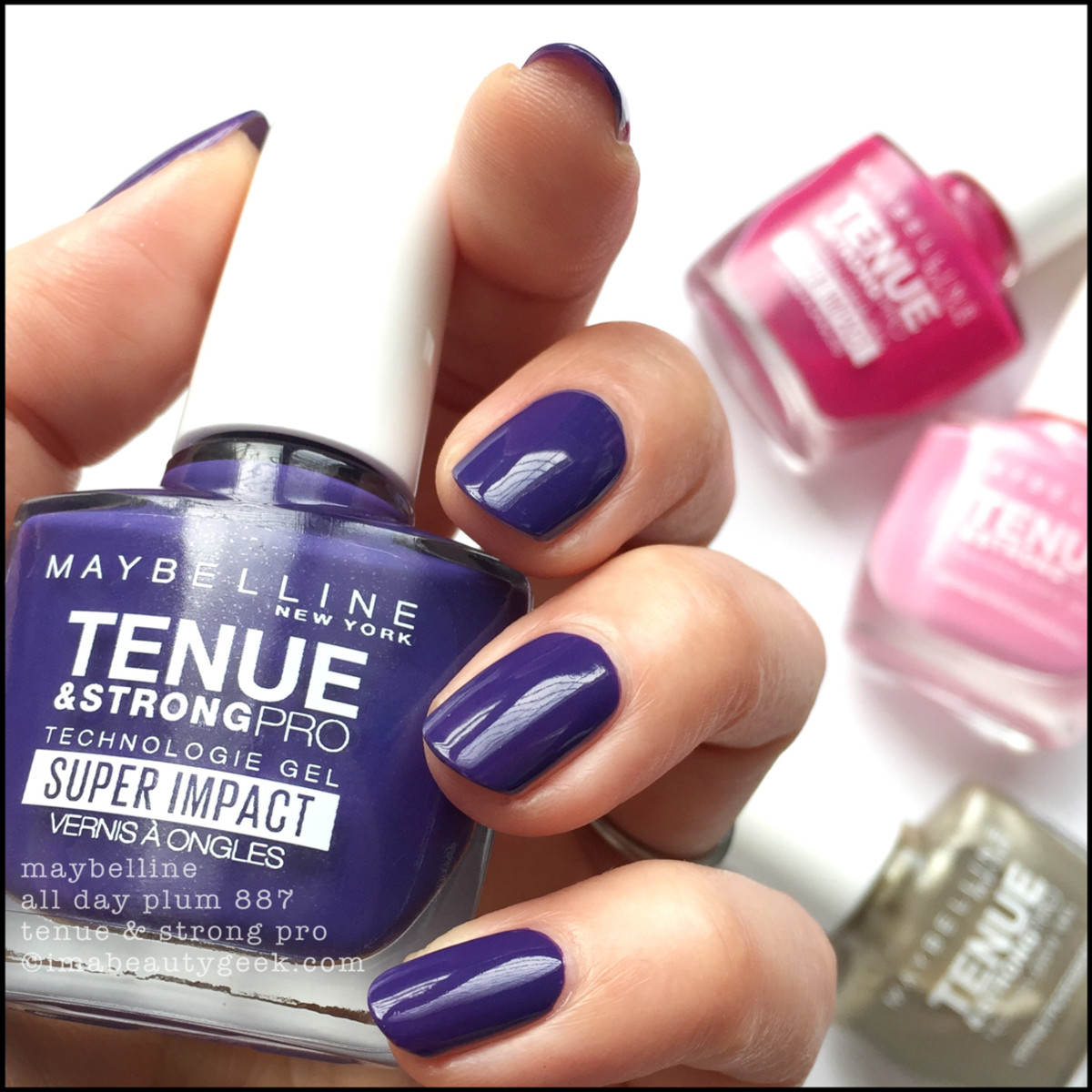 Maybelline All Day Plum Tenue Strong Pro Nail Polish