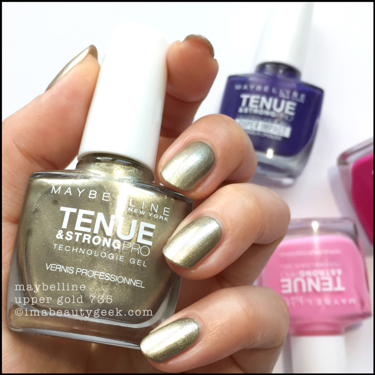 Maybelline Upper Gold 735 Tenue Strong Pro Nail Polish