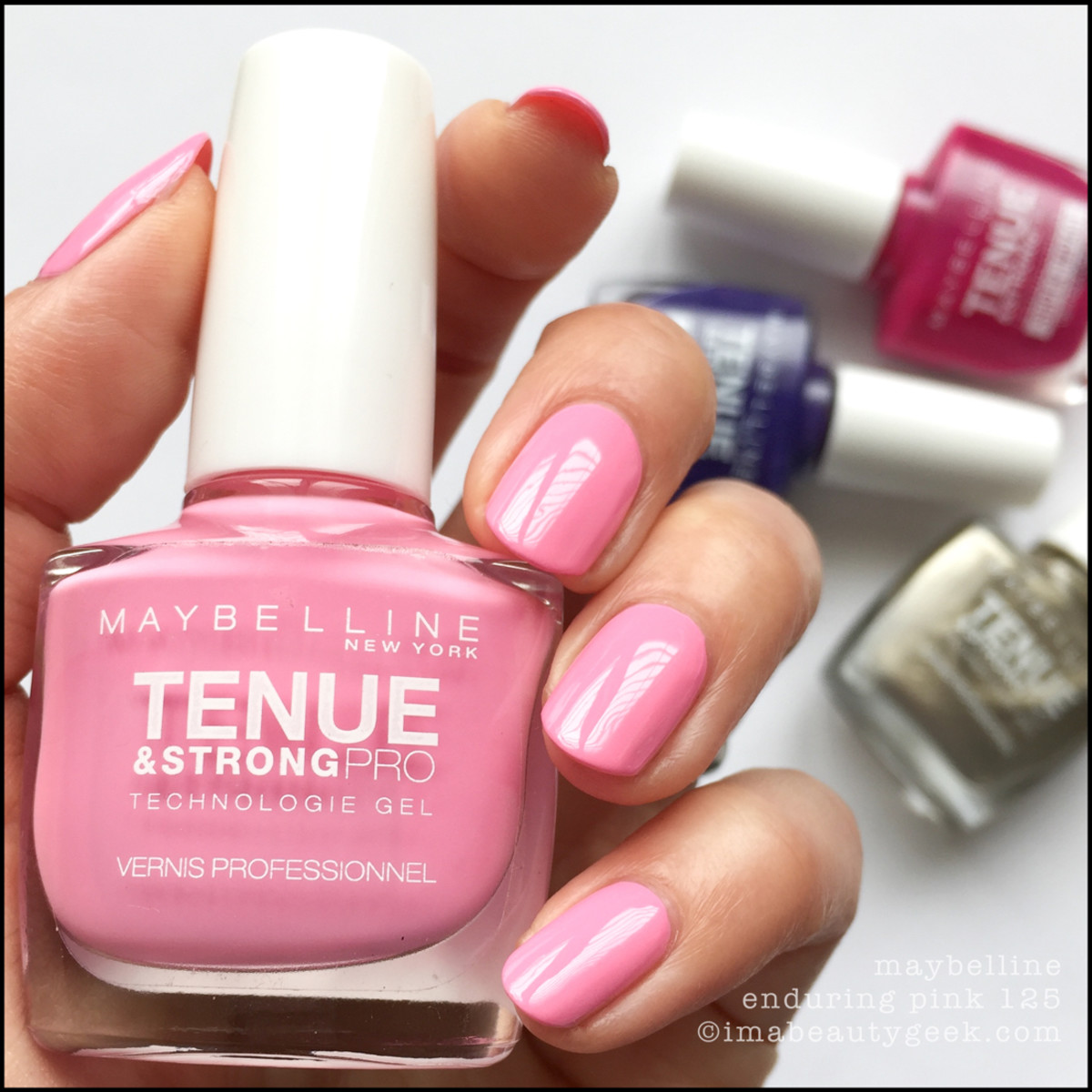 Maybelline Enduring Pink Tenue Strong Pro Nail Polish