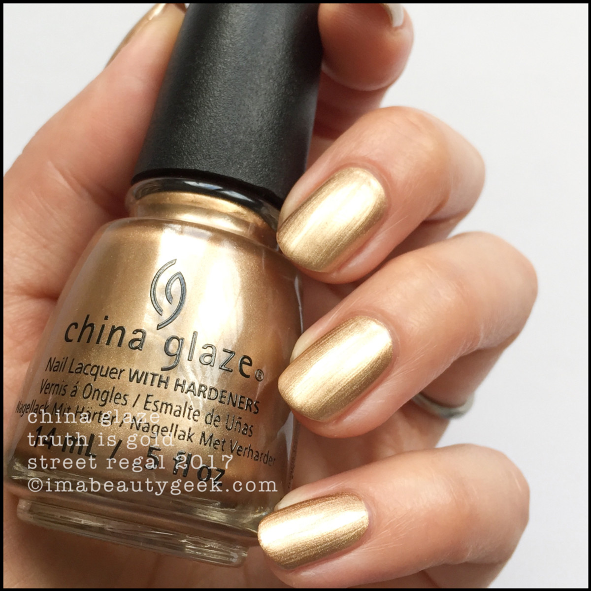 China Glaze Truth is Gold - Street Regal Collection Fall 2017
