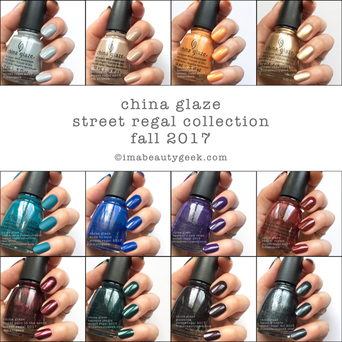 China Glaze Street Regal Fall 2017 Beautygeeks