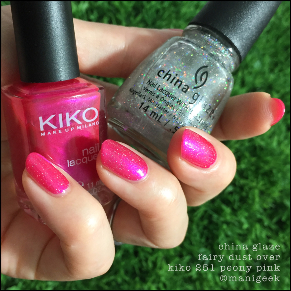 China Glaze Fairy Dust over Kiko 251 _ Manigeek 1000 Days of Untrieds Week 3
