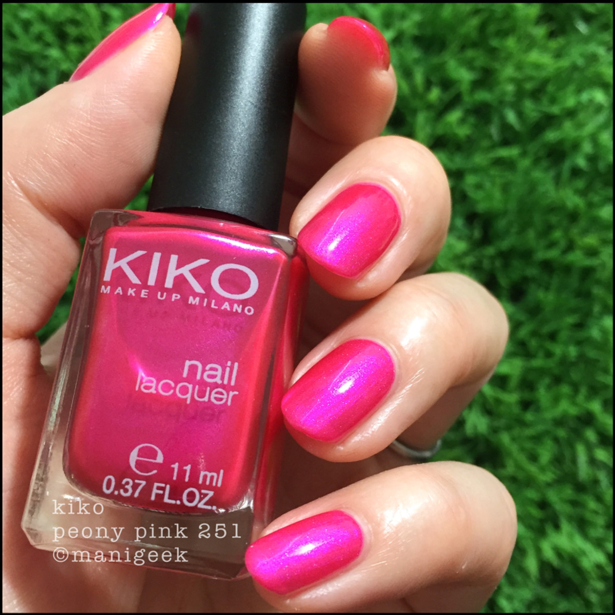 Kiko 251 Peony Pink Nail Polish _ Manigeek 1000 Days of Untrieds Week 3