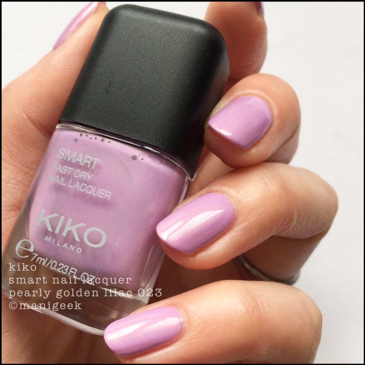 Kiko Smart Nail Lacquer Pearly Golden Lilac 023 _ 1000 Days of Untried Nail Polish Week 4