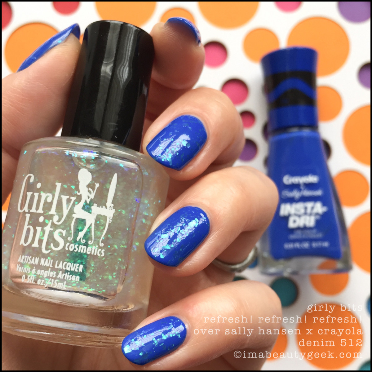 Sally Hansen Crayola Denim w Girly Bits RefreshRefreshRefresh _ Sally Hansen Crayola Swatches Review 2017 Collection