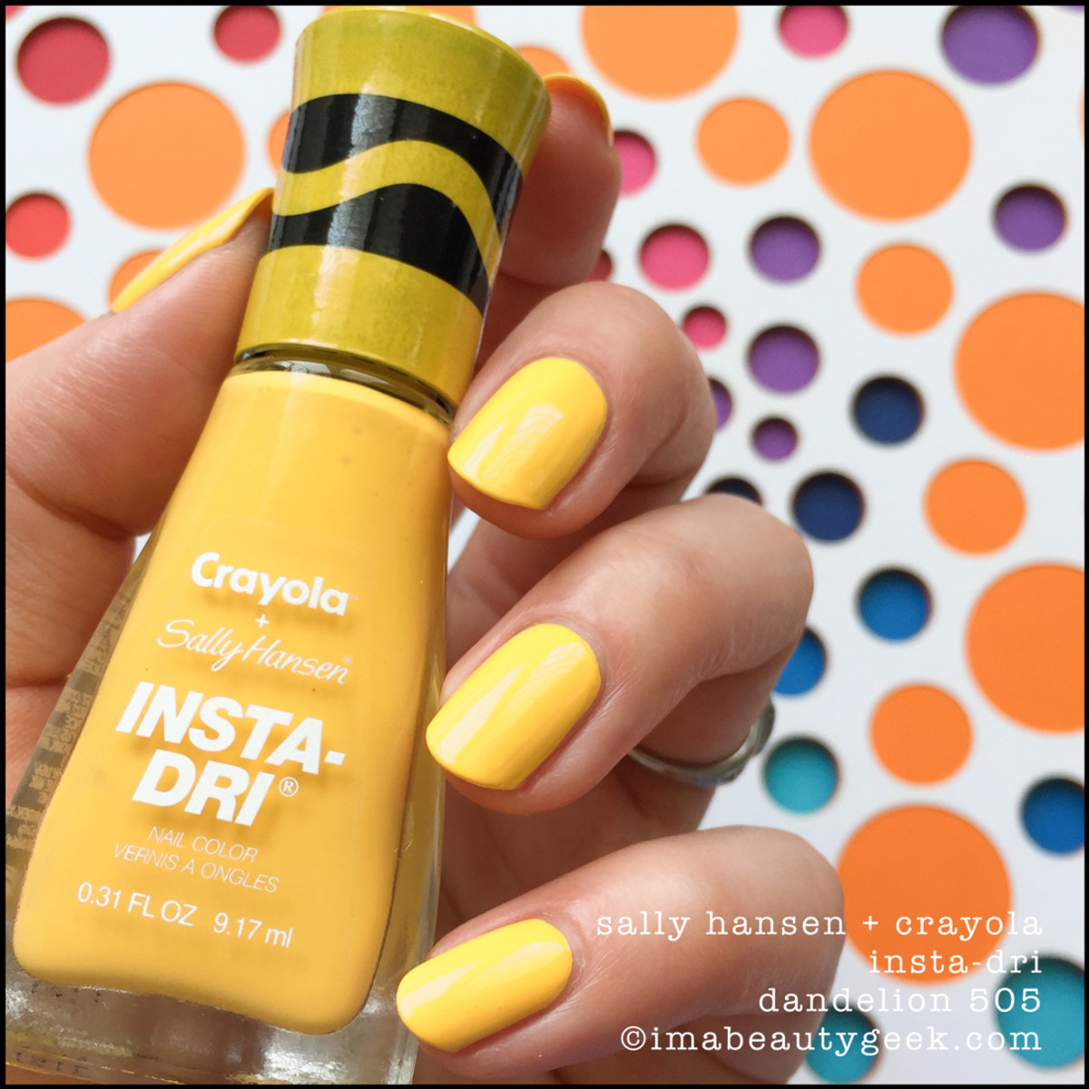 Sally Hansen Crayola Dandelion 505 _ Sally Hansen Crayola Swatches Review 2017 Collection