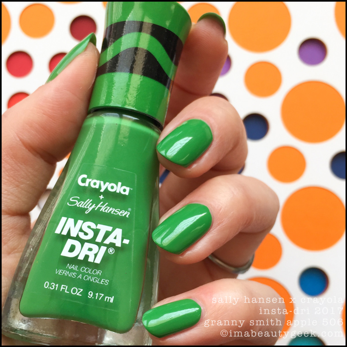 Sally Hansen Crayola Granny Smith Apple 506 _ Sally Hansen Crayola Swatches Review 2017 Collection