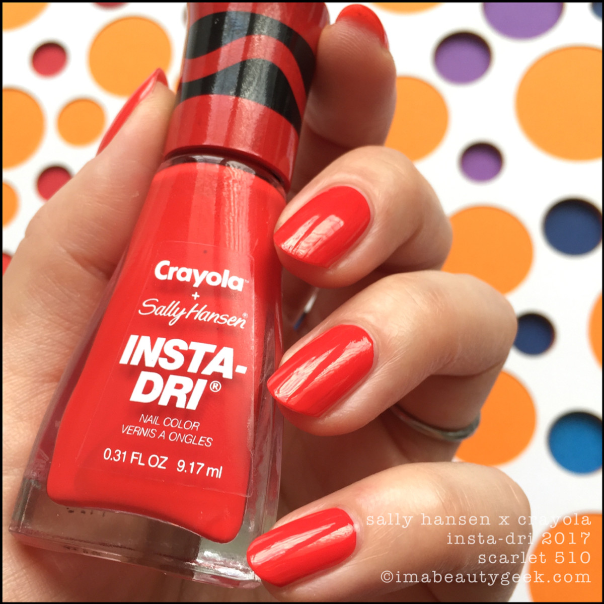 Sally Hansen Crayola Scarlet 510 _ Sally Hansen Crayola Swatches Review 2017 Collection
