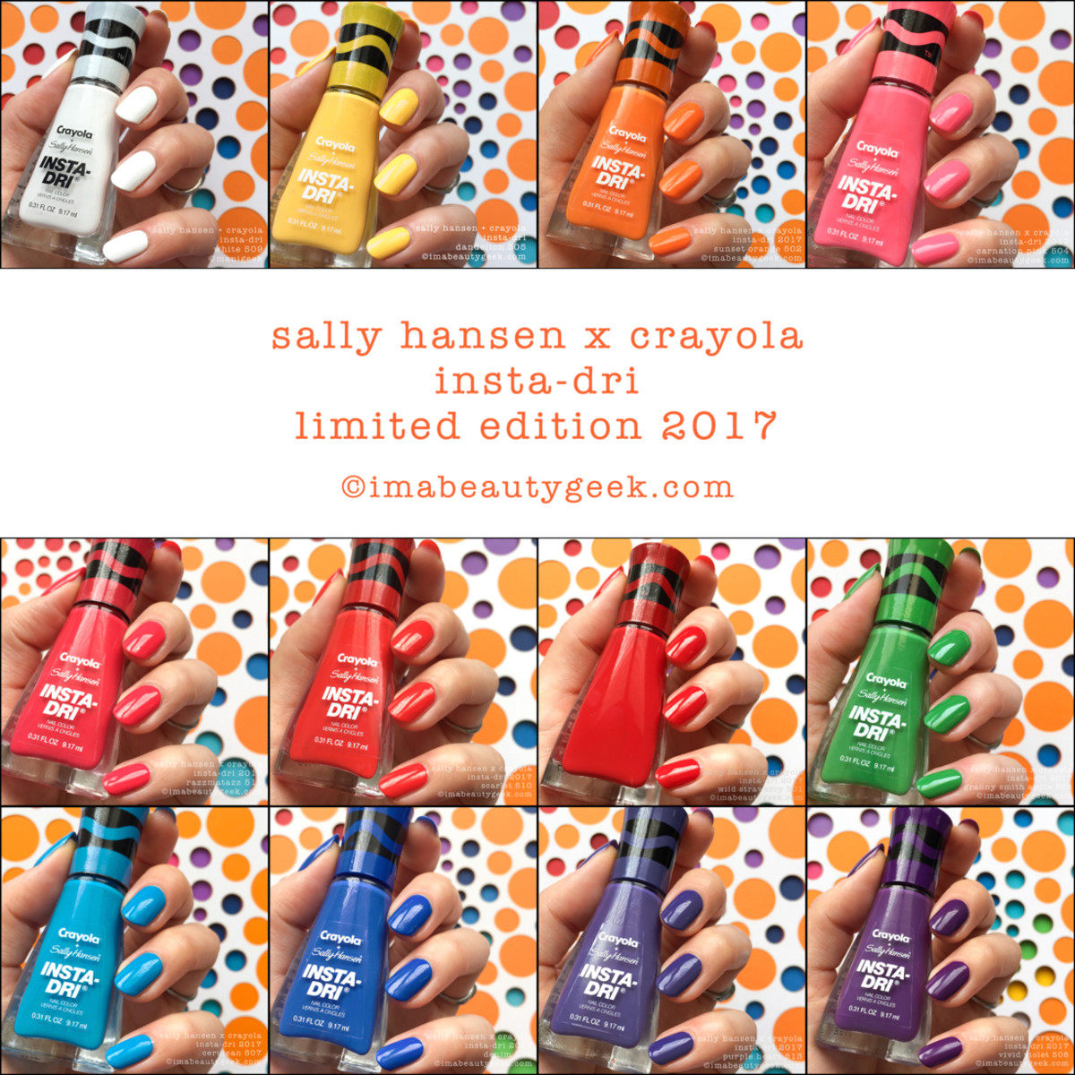 Sally Hansen Crayola Swatches Review 2017 Collection Beautygeeks Composite