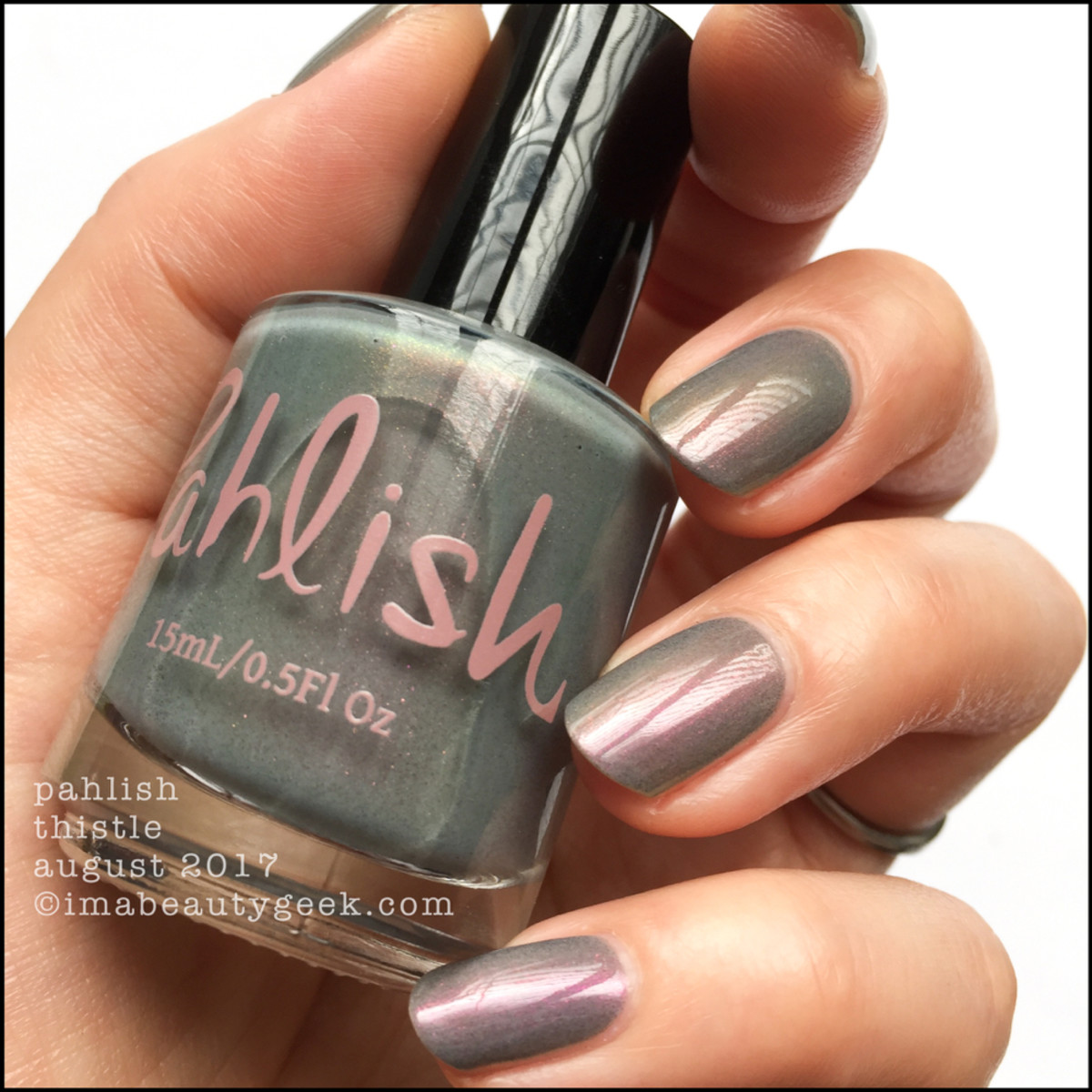 Pahlish Thistle Swatches w top coat _ Pahlish August 2017 Swatches Review