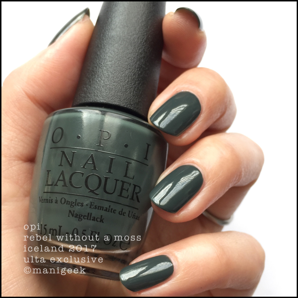 OPI Rebel Without a Moss Swatches Ulta Exclusive _ OPI Iceland Swatches Review