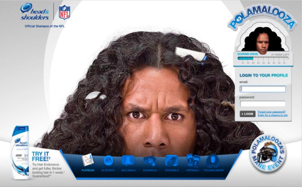 NFL star Troy Polamalu for Head & Shoulders: Polamalooza