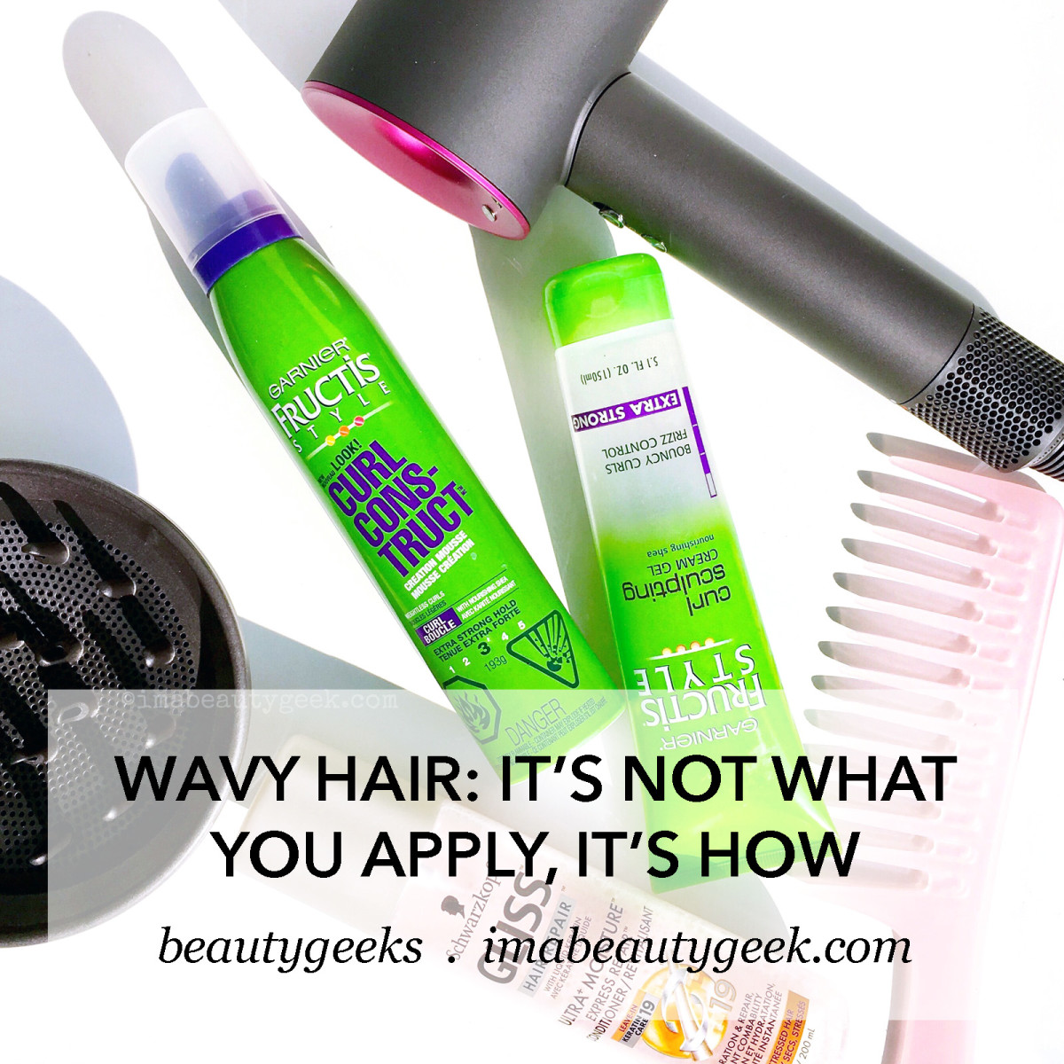 Wavy hair: to control frizz, it's not WHAT you apply to wet hair, it's HOW