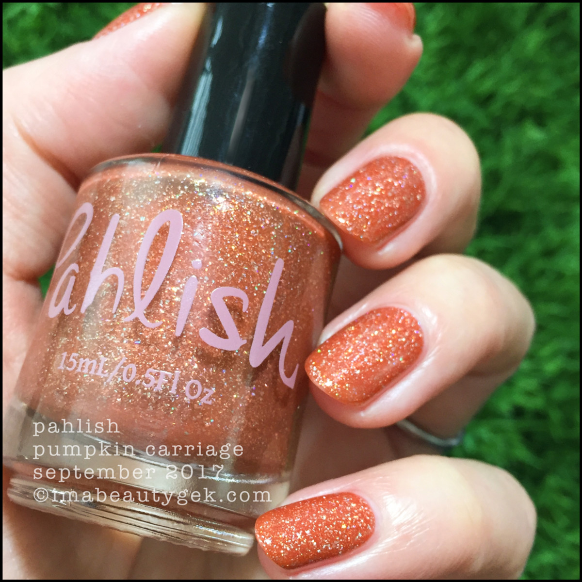 Pahlish Pumpkin Carriage Swatches 2 _ Pahlish September 2017 Release Swatches Manigeek