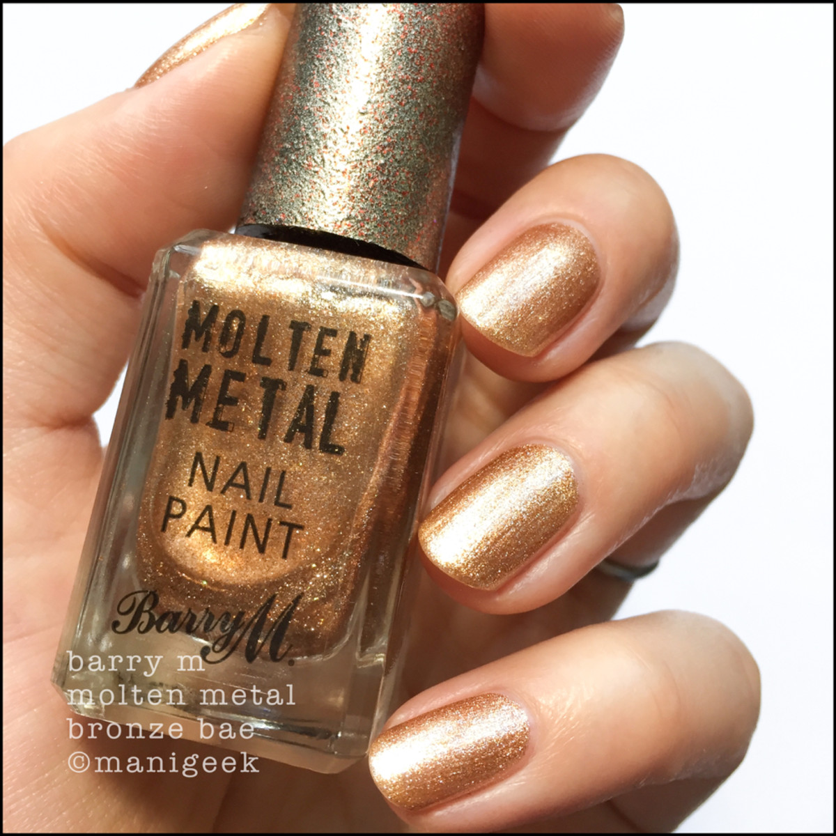 Barry M Bronze Bae _ Barry M Molten Metals Swatches