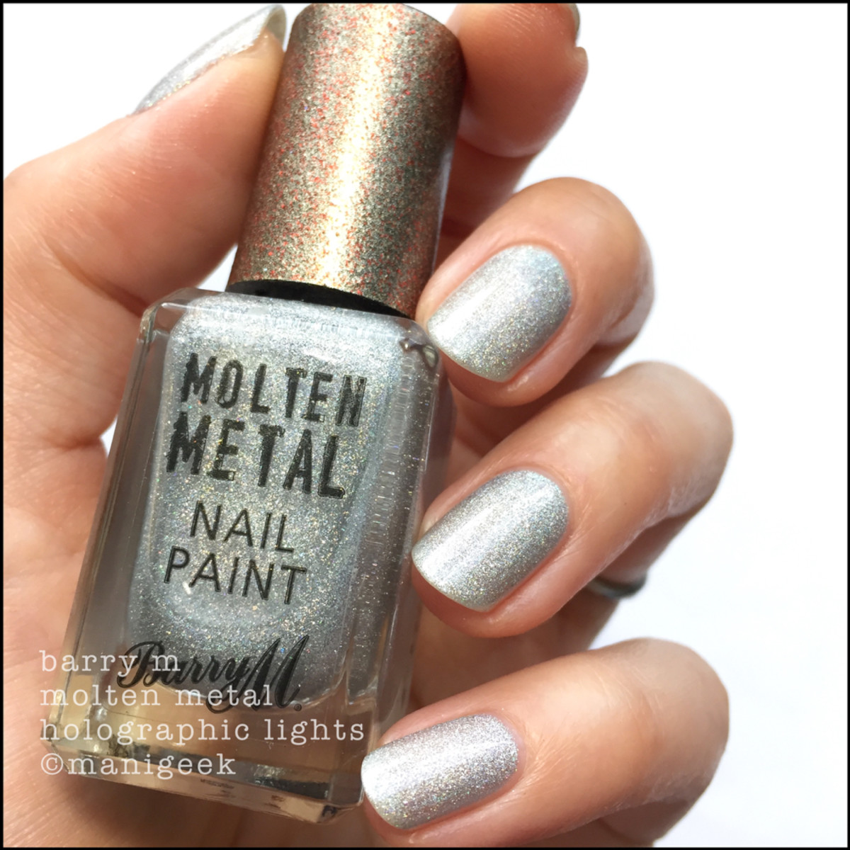 Barry M Holographic Lights 1 _ Barry M Molten Metals Swatches