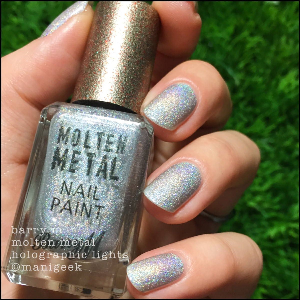 Barry M Holographic Lights 2 _ Barry M Molten Metals Swatches