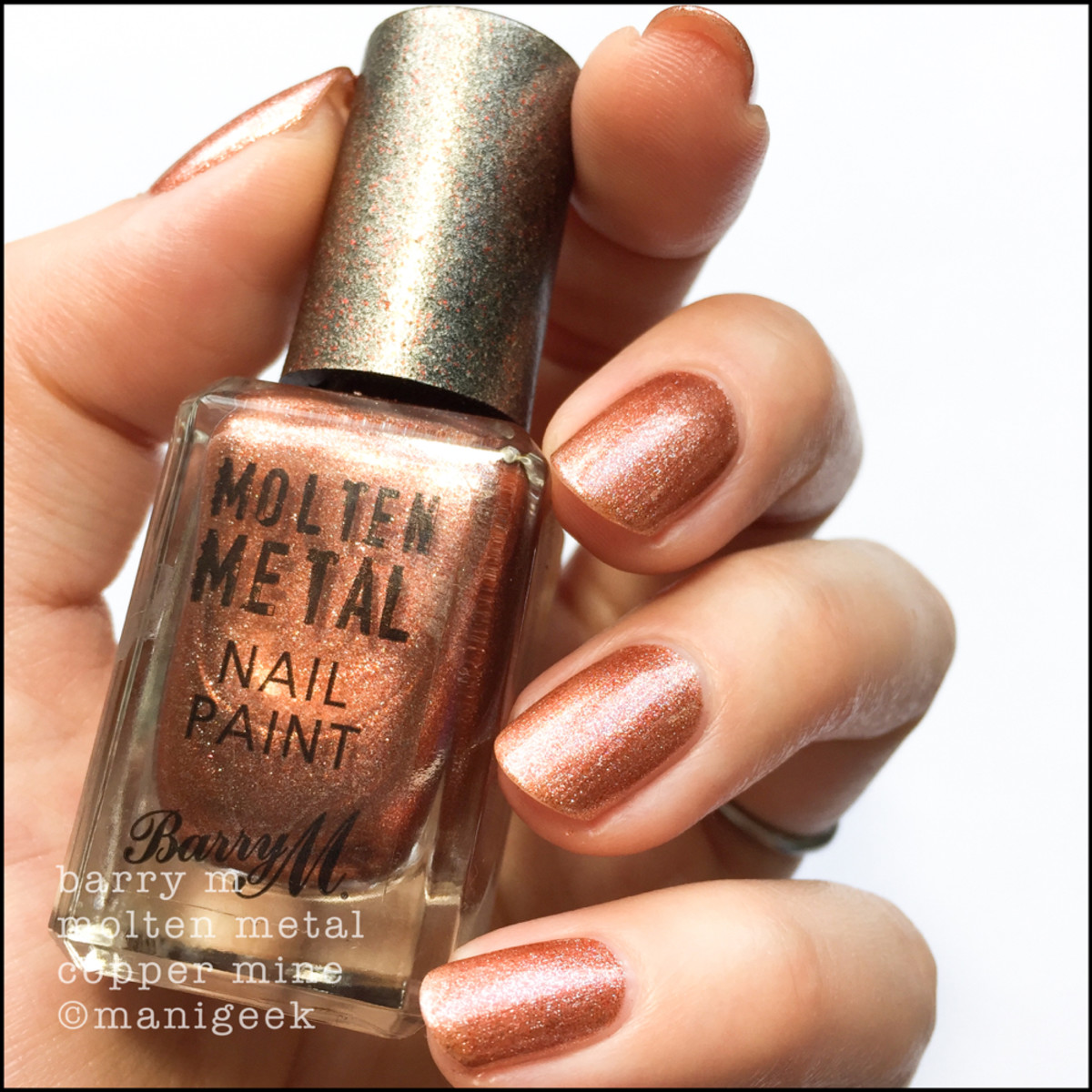 Barry M Copper Mine _ Barry M Molten Metals Swatches