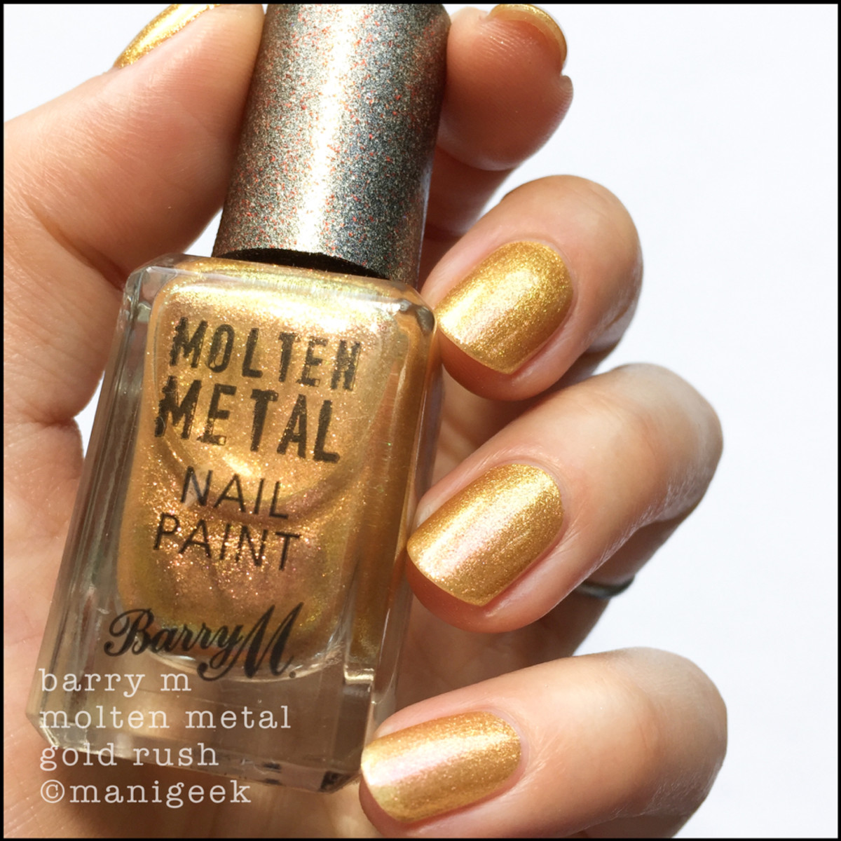 Barry M Gold Rush _ Barry M Molten Metals Swatches