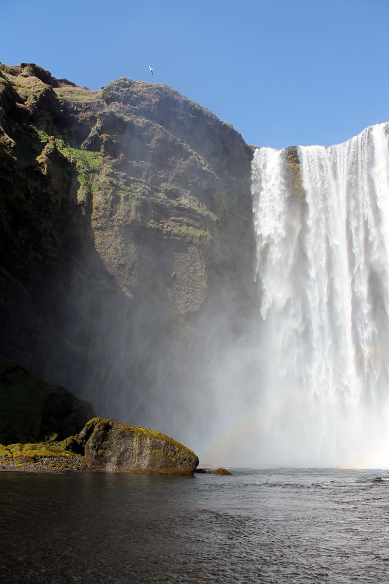 Skogarfoss: a glorious waterfall on the southern coast of Iceland