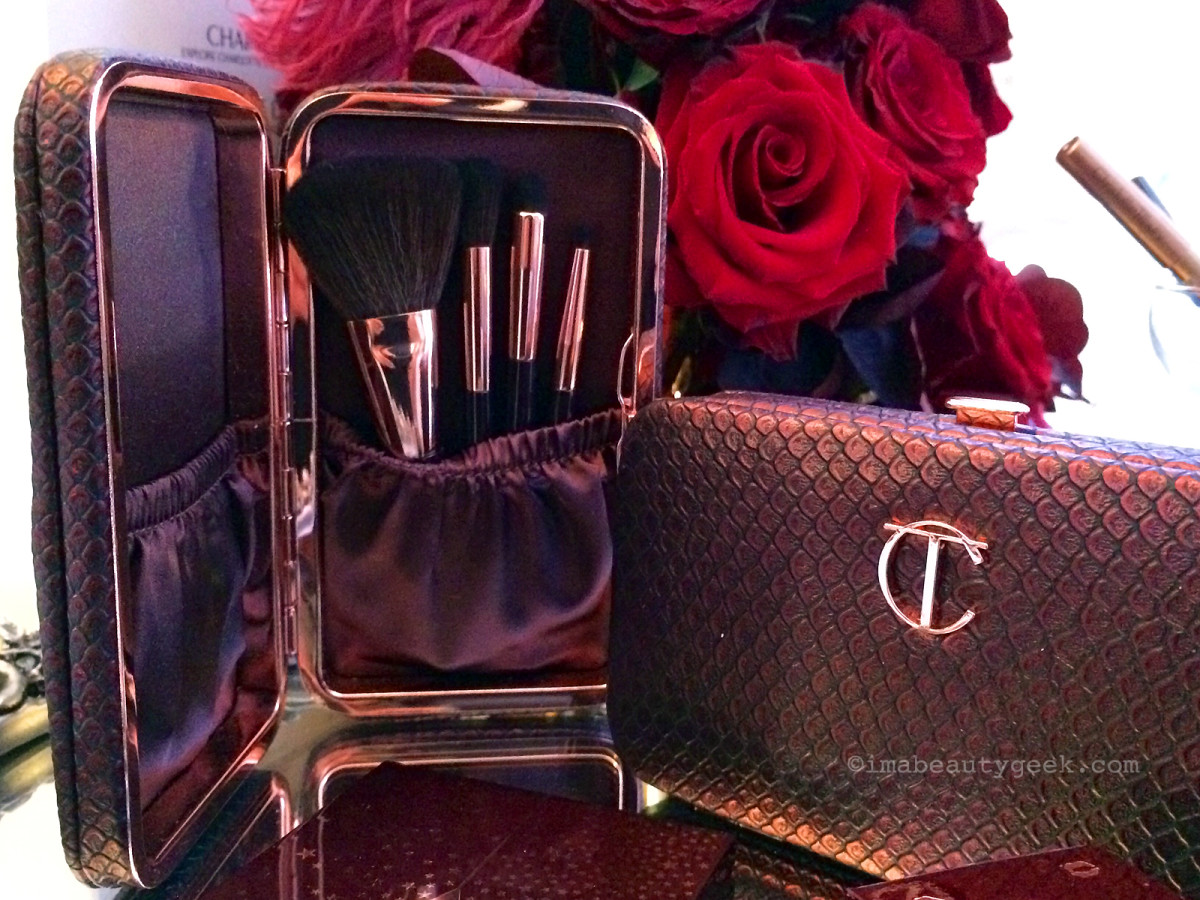 Charlotte Tilbury holiday 2016 travel makeup brush set