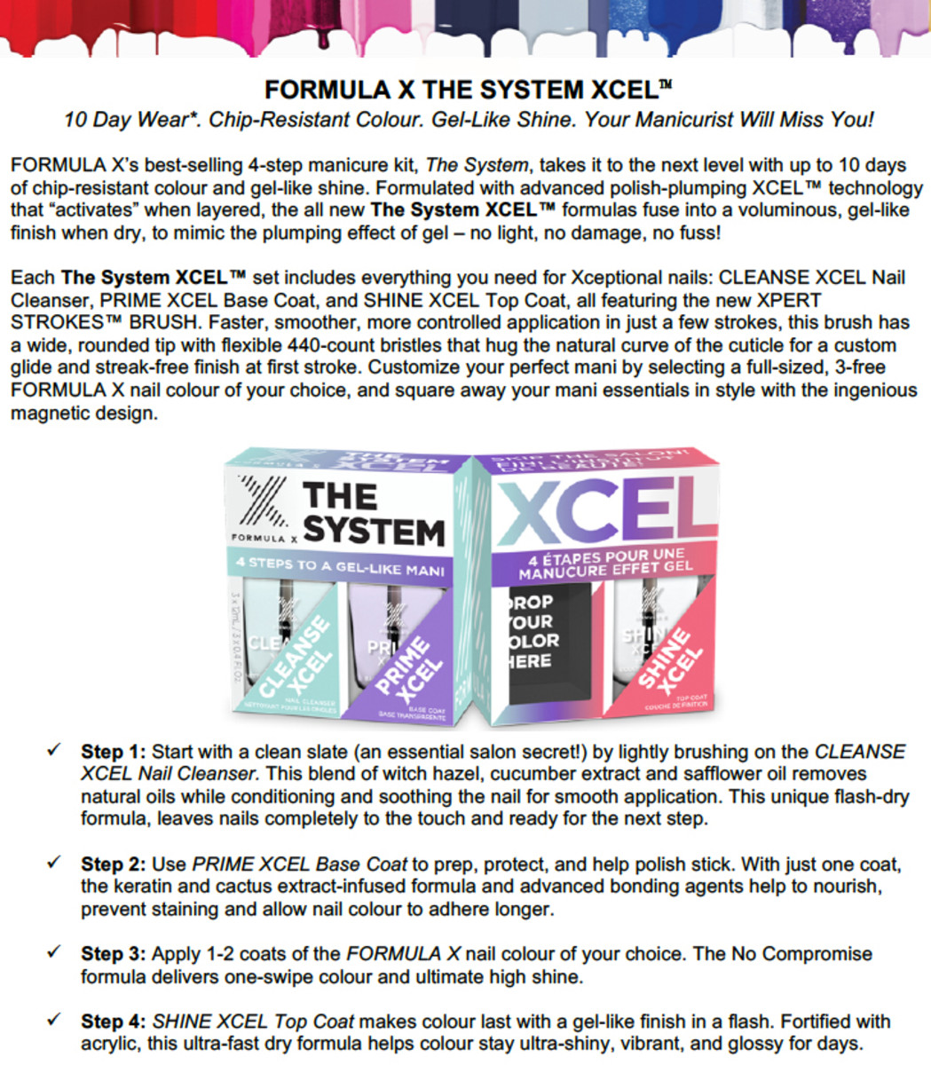 Formula X The System Xcel Instructions
