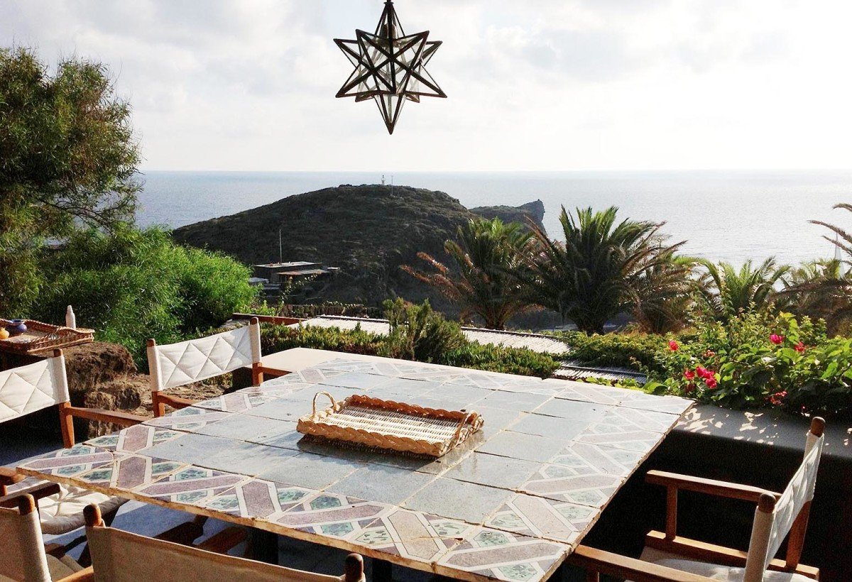 Dinner view at a luxury villa on Pantelleria