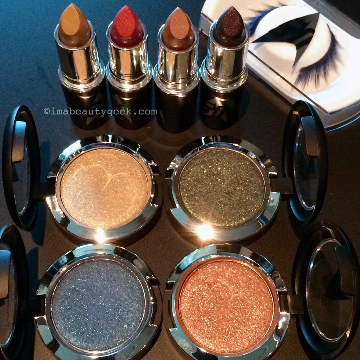 MAC Star Trek eyeshadows, lipstick and false lashes_imabeautygeek.com