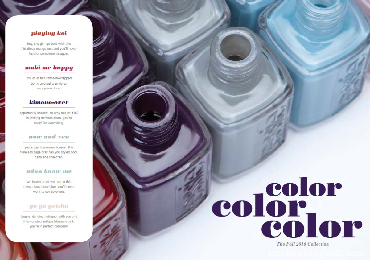 Essie Fall 2016 Collection_Essie Japanese Collection 2016