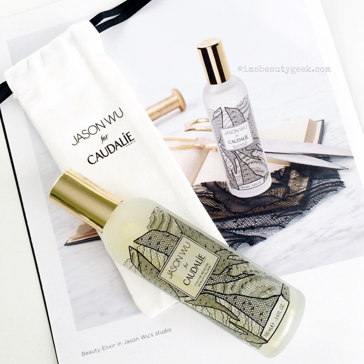 Jason Wu Caudalie Beauty Elixir collector edition bottle
