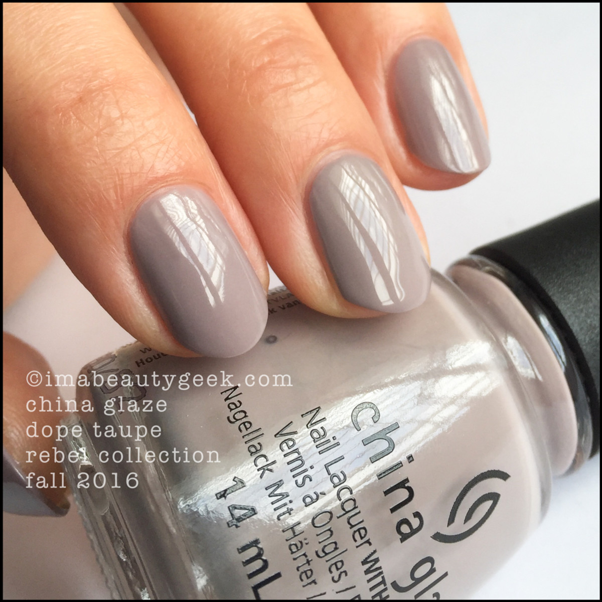 China Glaze Dope Taupe_China Glaze Rebel 2016 Collection Swatches Review