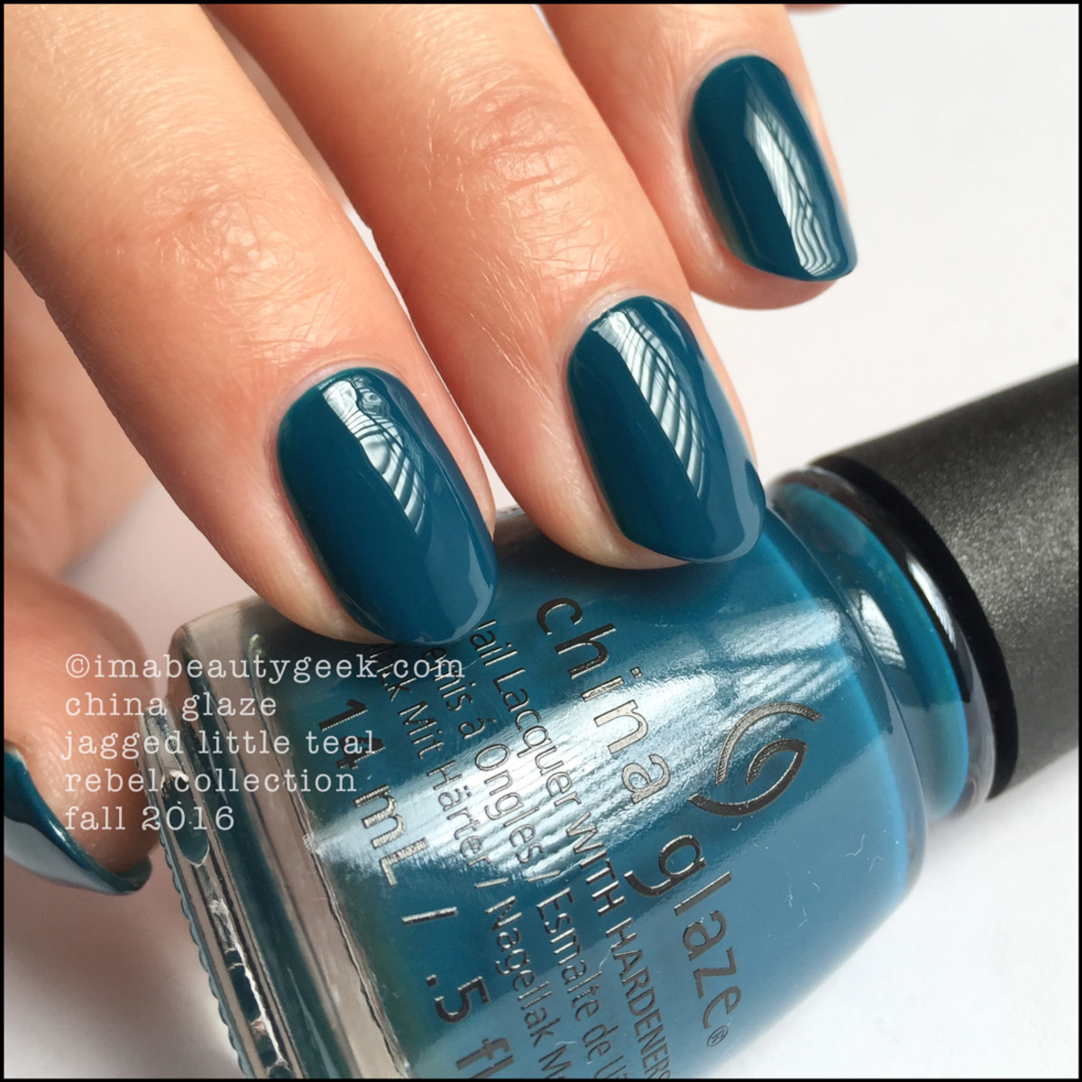 China Glaze Jagged Little Teal_China Glaze Rebel 2016 Collection Swatches Review