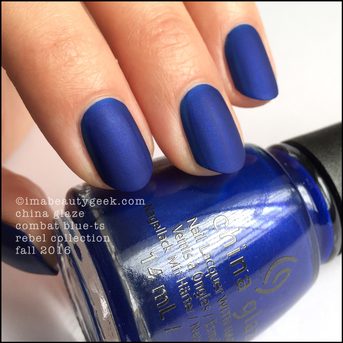 China Glaze Combat Bluets_China Glaze Rebel 2016 Collection Swatches Review