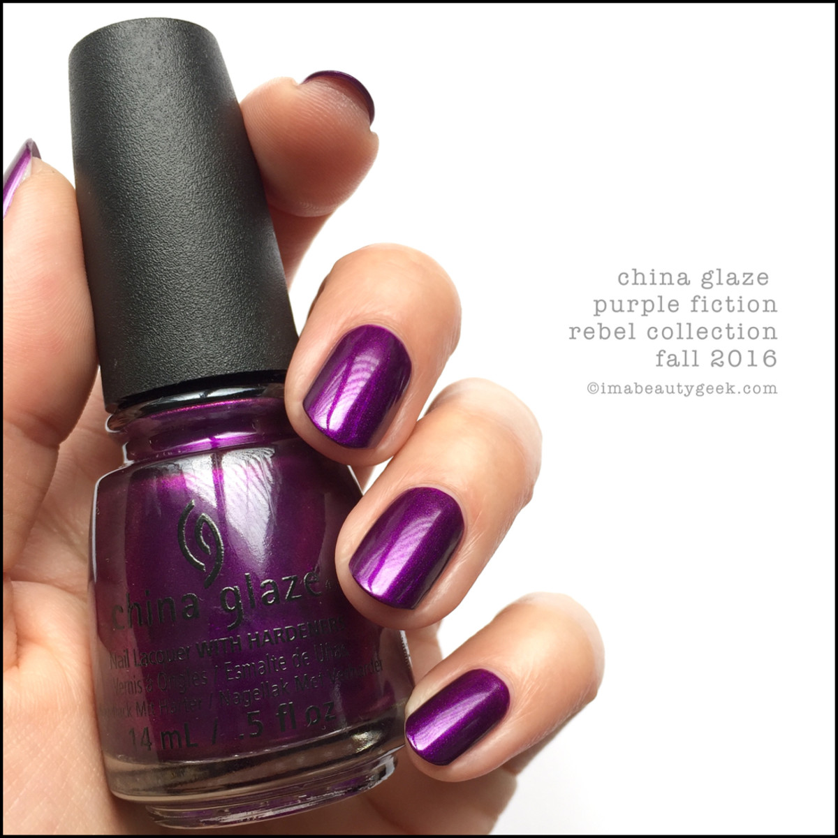 China Glaze Purple Fiction_China Glaze Rebel 2016 Collection Swatches Review