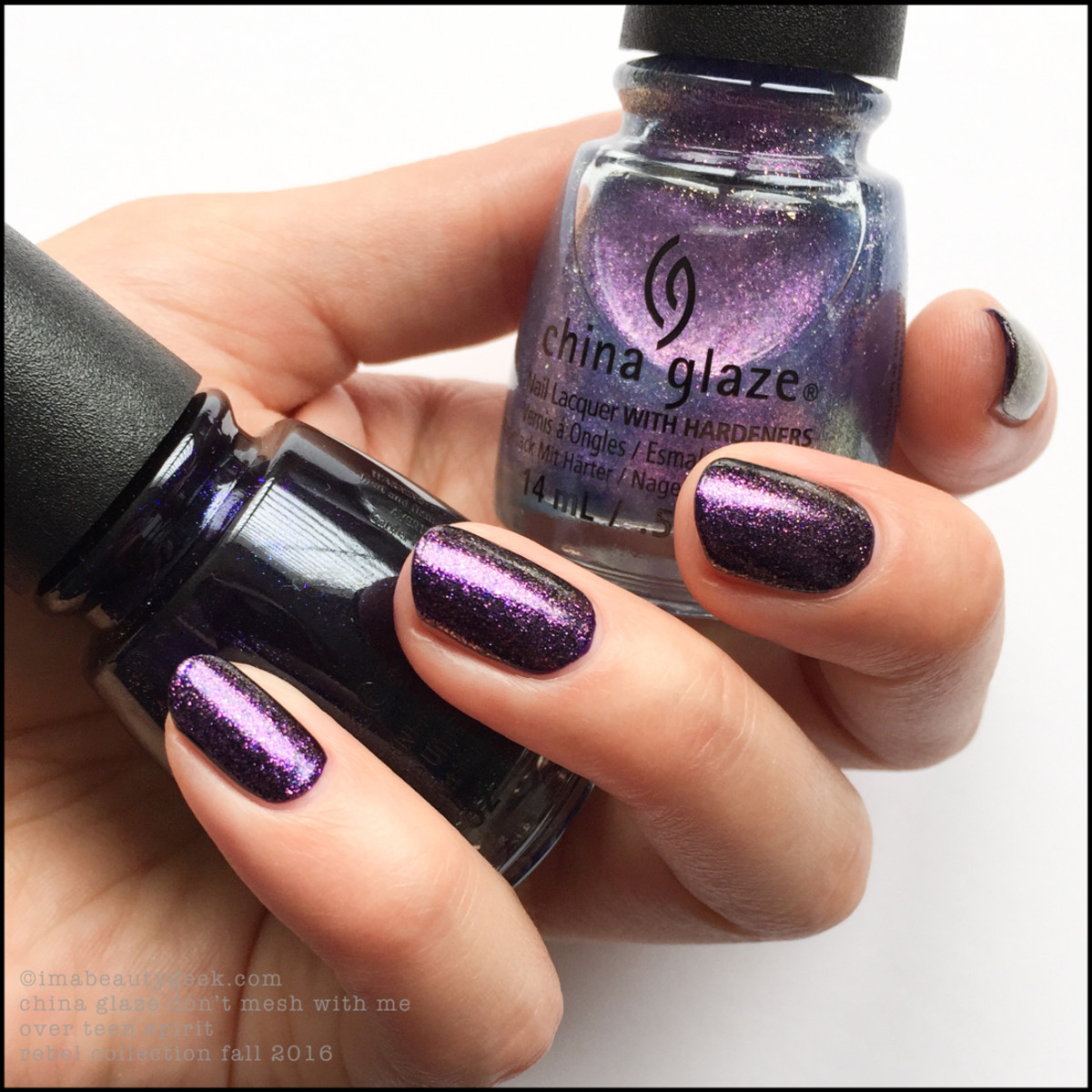 China Glaze Dont Mesh with Me over Teen Spirit_China Glaze Rebel Collection Fall 2016