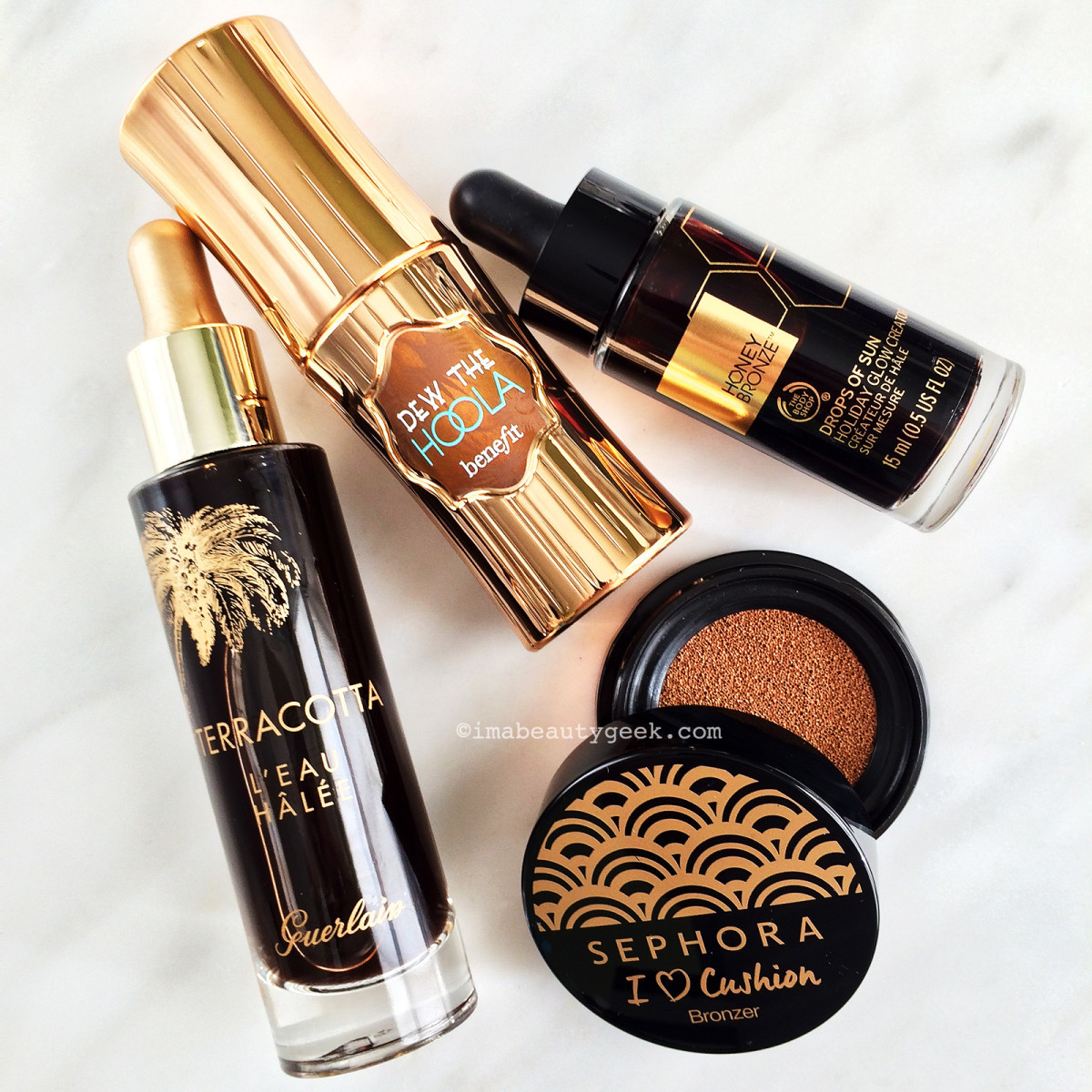 how to use liquid bronzer 2016: Guerlain, Benefit, The Body Shop and Sephora