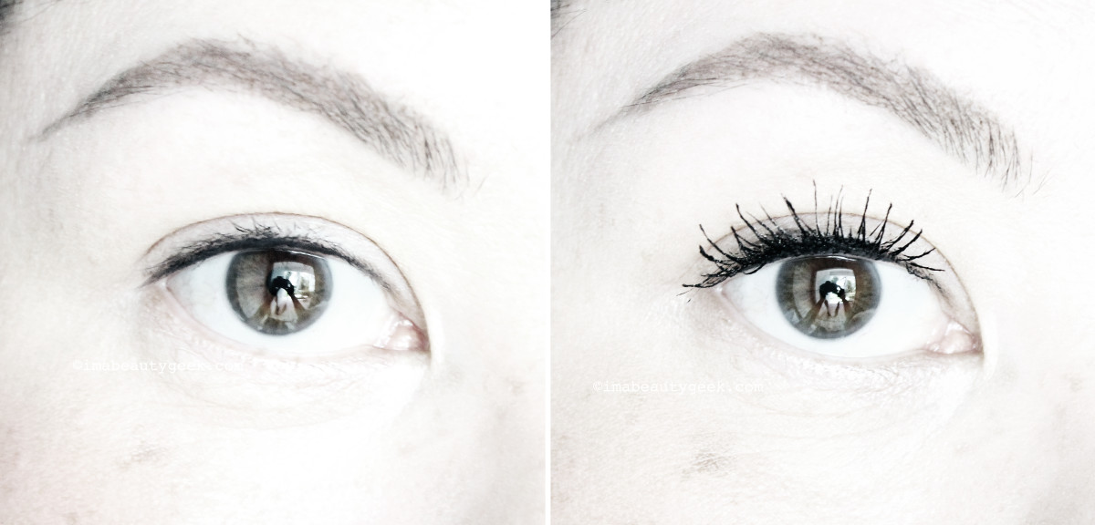 MAC Instacurl Lash mascara review_before after_right eye