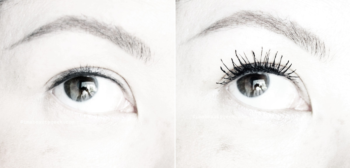 MAC Instacurl Lash mascara review_before after_right eye 2