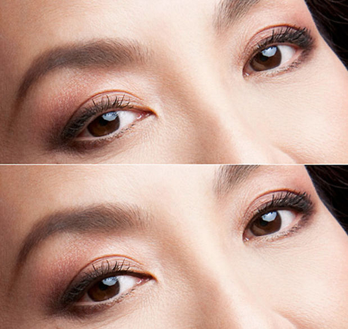 Michelle Yeoh with digital upper waterline liner