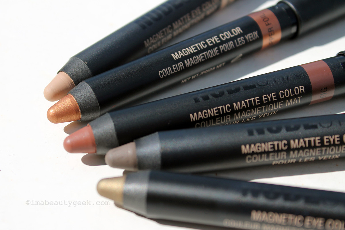 Nudestix Magnetic Eye Color and Magnetic Matte Eye Color pencils