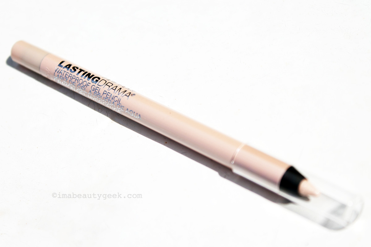 Maybelline Lasting Drama Waterproof Gel Pencil in Soft Nude: brightens whites of eyes