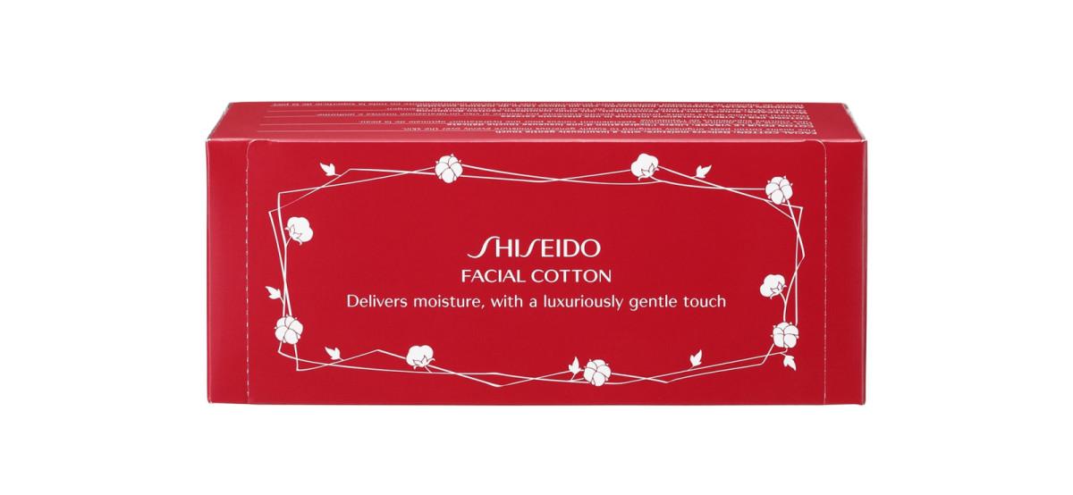 shiseido facial cotton 60-pad box