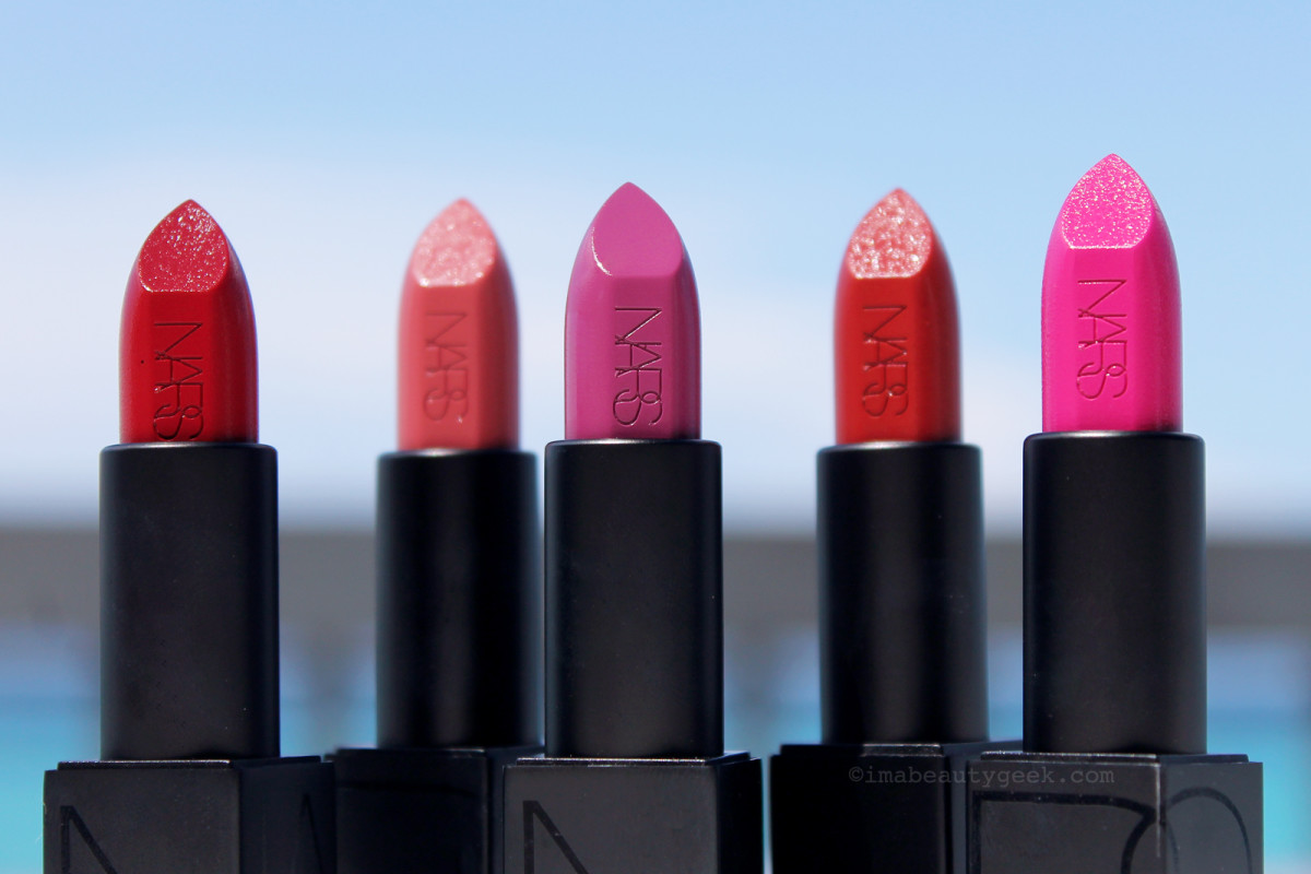 Nars Audacious Lipstick: Shirley, Apoline, Kate, Mona and Stefania