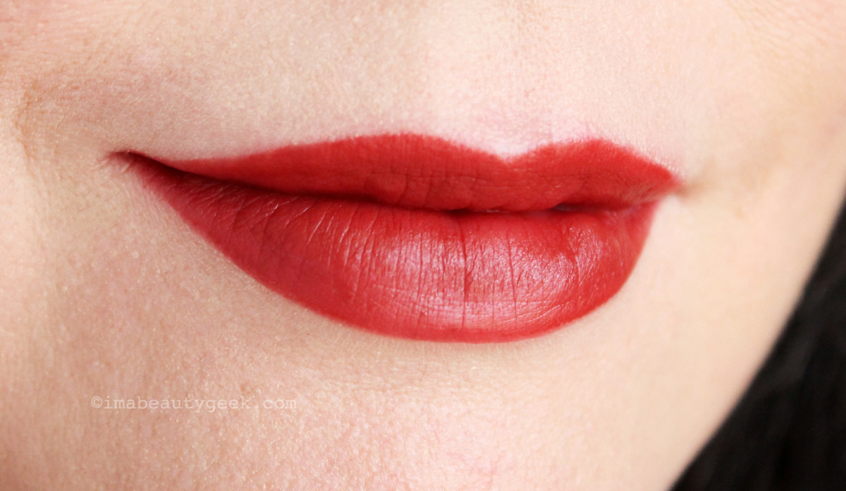 NARS Audacious Lipstick in Mona swatch