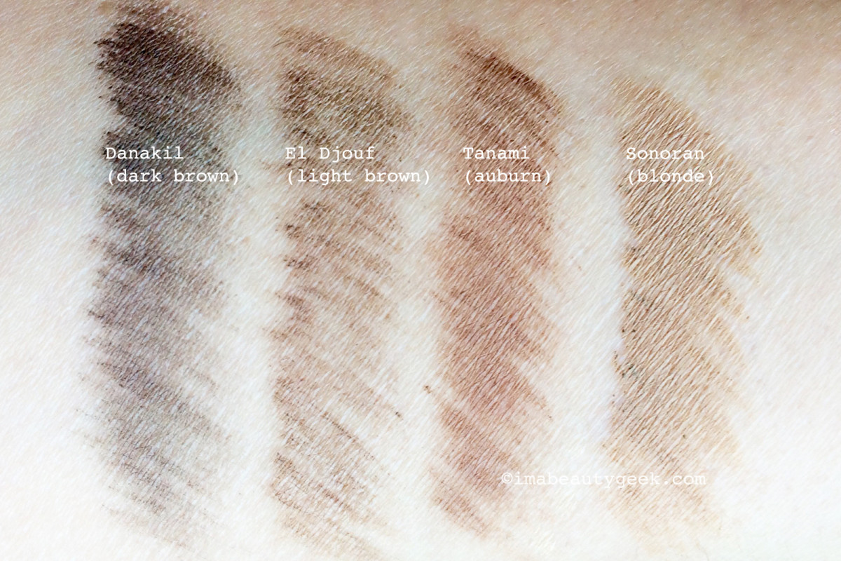 NARS Brow Defining Cream swatches
