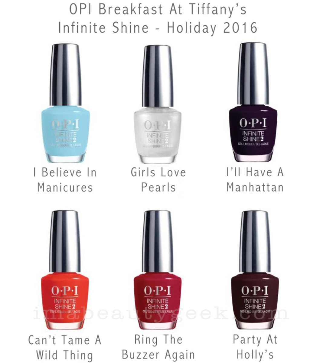 OPI Breakfast at Tiffanys Infinite Shine Holiday 2016 Bottleshots