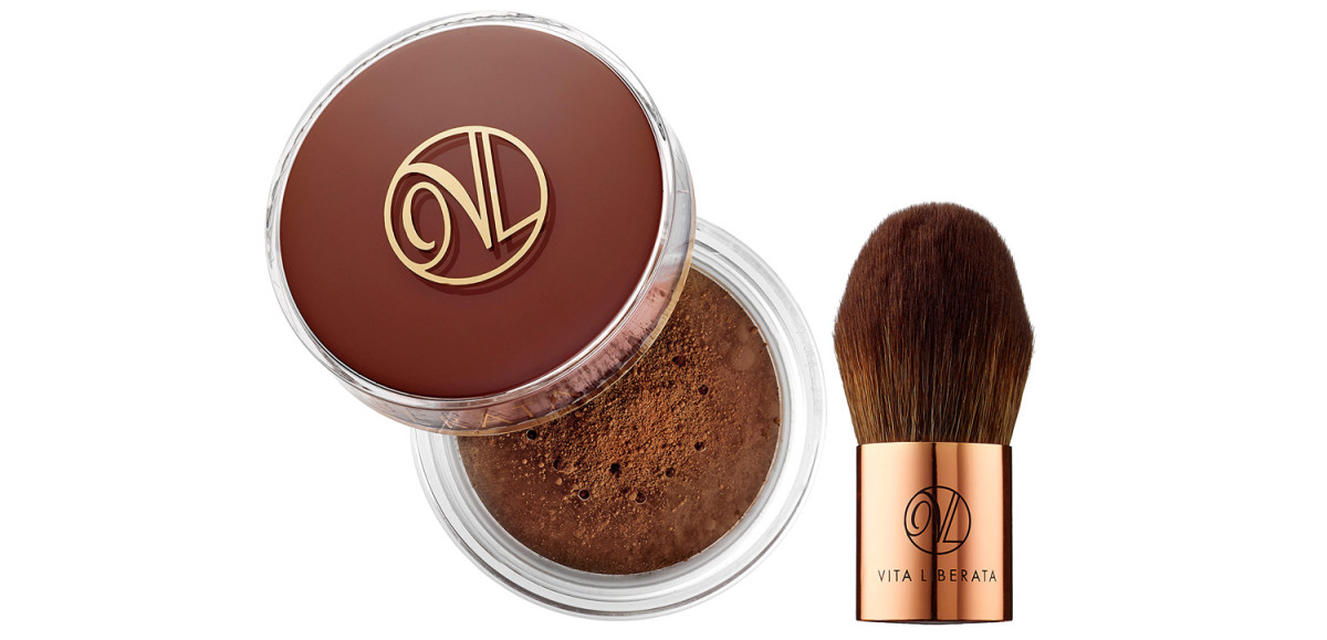 How to contour your face with self-tanner: Vita Liberata Trystal Self-Tanning Bronzing Mineral Powder