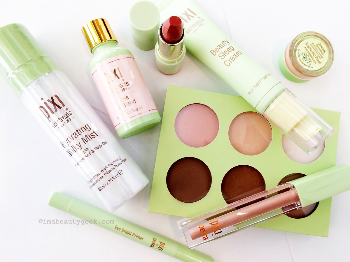 Pixi Hydrating Milky Mist, Pixi Rose Oil Blend, Pixi Mattelustre Lipstick, Pixi Beauty Sleep Cream, Pixi Correction Concentrate, Pixi Book of Beauty Contour Creator, Pixi LipLift Max and Pixi Eye Bright Primer... all coming to Shoppers Drug Mart in January.
