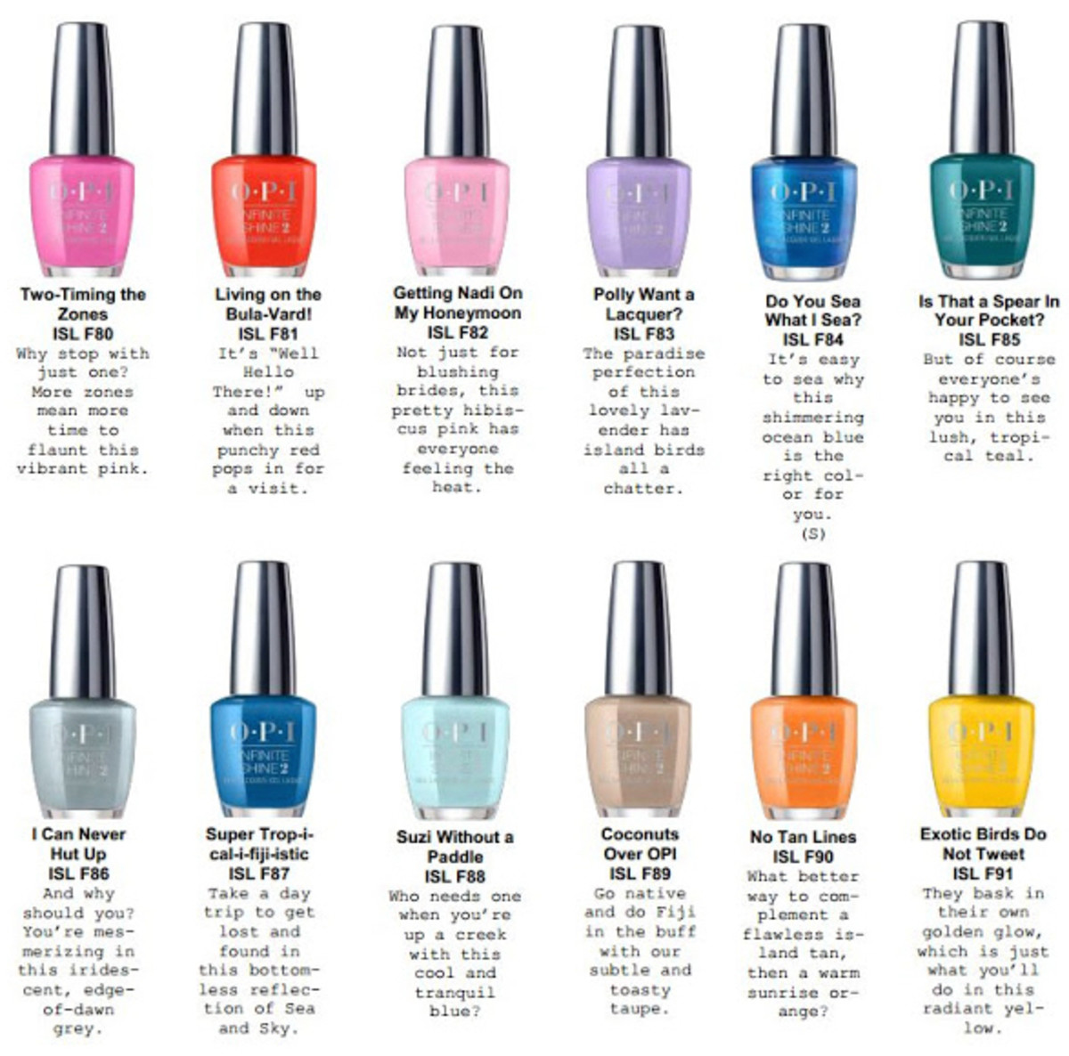 OPI Fiji 2017 Infintie Shine Collection Spring Summer