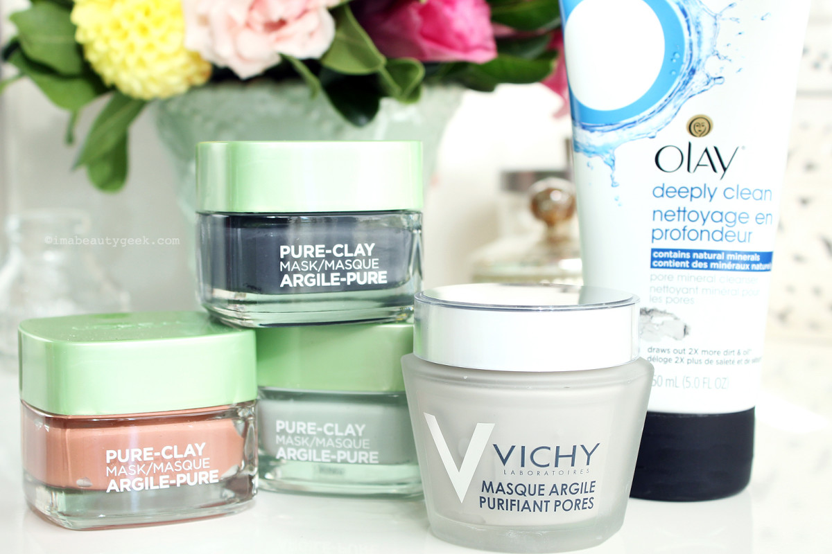 Drugstore clay-nation: L'Oreal Paris Pure-Clay Masks, Vichy